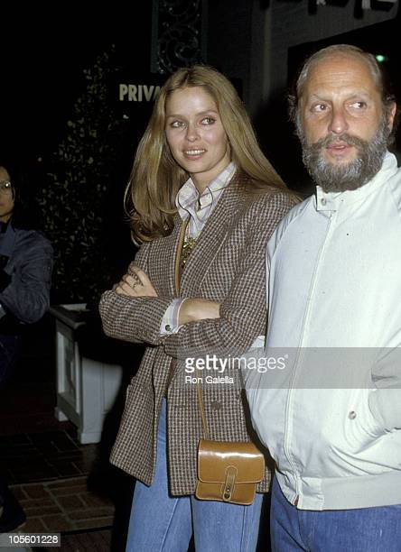 Barbara Bach and Dan Reasoner during 'The First Great Train Robbery' Premiere Party January 29 1979 at Chasen's Restaurant in Beverly Hills...