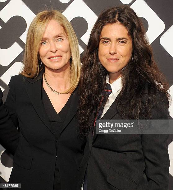 Barbara Bach and daughter writer/director Francesca Gregorini arrive at Diane Von Furstenberg's 'Journey Of A Dress' premiere opening party at...