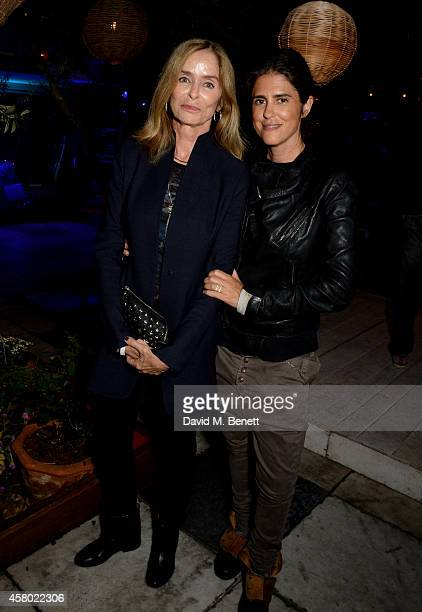 Barbara Bach and Francesca Gregorini attend the Teen Cancer America Fundraiser hosted by Darren Strowger Roger Daltrey and Rebecca Rothstein on...