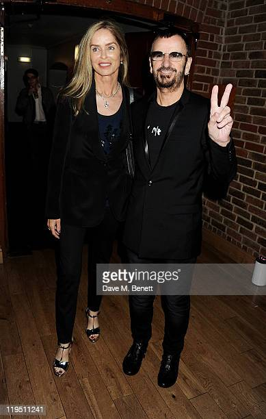 Barbara Bach and Ringo Starr arrives at the Glenfiddich Mojo Honours List 2011 awards ceremony at The Brewery on July 21 2011 in London England
