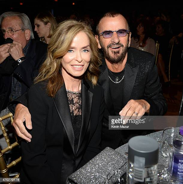 Barbara Bach and Ringo Starr attend the 30th Annual Rock And Roll Hall Of Fame Induction Ceremony at Public Hall on April 18 2015 in Cleveland Ohio