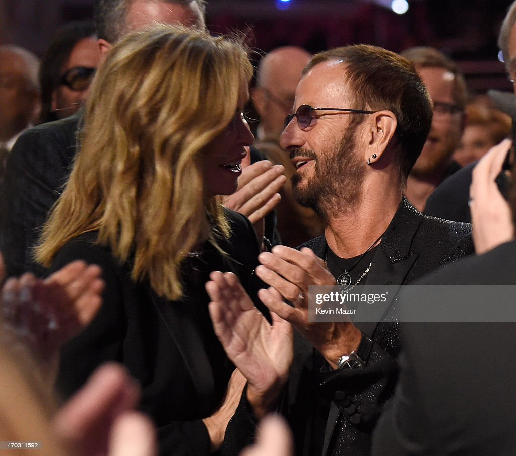 Barbara Bach and Ringo Starr attend the 30th Annual Rock And Roll Hall Of Fame Induction Ceremony at Public Hall on April 18, 2015 in Cleveland, Ohio.