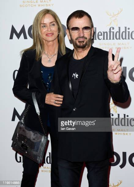 Barbara Bach and Ringo Starr attend the Glenfiddich Mojo Honours List 2011 at The Brewery on July 21 2011 in London England