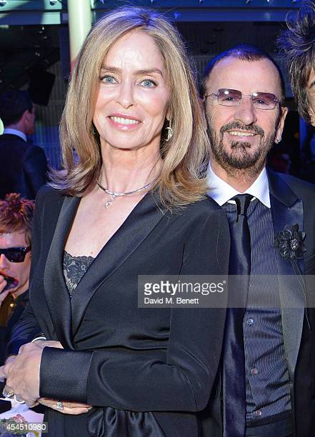 Barbara Bach and Ringo Starr attend the GQ Men Of The Year awards in association with Hugo Boss at The Royal Opera House on September 2 2014 in...