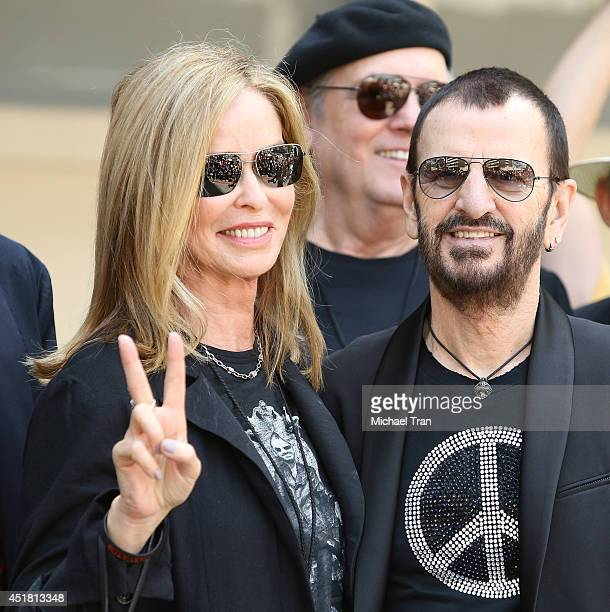 Barbara Bach and Ringo Starr attend the Ringo Starr and John Varvatos collaboration announcement and birthday celebration event held at Capitol...