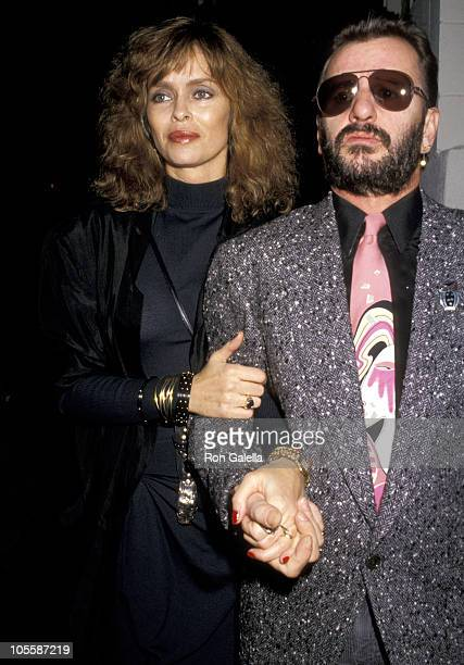 Barbara Bach and Ringo Starr during Ringo Starr and Barbara Bach Sighting at Spago's March 8 1987 at Spago's in Hollywood California United States