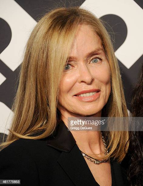 Barbara Bach arrives at Diane Von Furstenberg's 'Journey Of A Dress' premiere opening party at Wilshire May Company Building on January 10 2014 in...