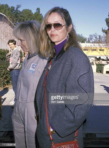 Barbara Bach during Ringo Starr Taping the TV Show 'Shining Time Station' at Griffith Park in Burbank California United States