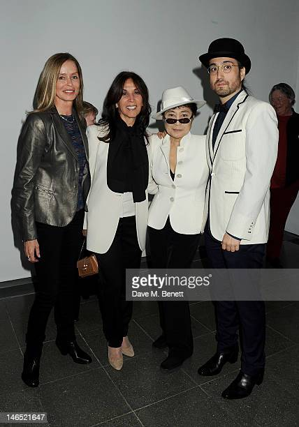 Barbara Bach Olivia Harrison Yoko Ono and Sean Lennon attend a Council Reception launching Yoko Ono's exhibition 'To The Light' at The Serpentine...