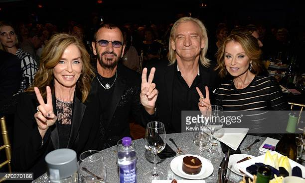 Barbara Bach Ringo Starr Joe Walsh and Marjorie Bach attend the 30th Annual Rock And Roll Hall Of Fame Induction Ceremony at Public Hall on April 18...