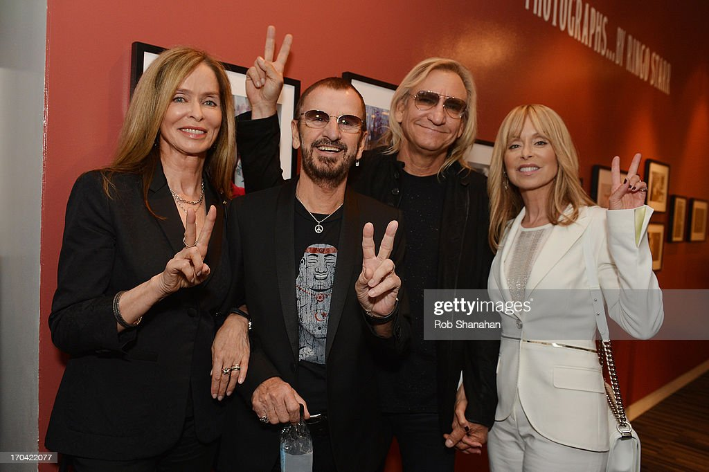 <a gi-track='captionPersonalityLinkClicked' href=/galleries/search?phrase=Barbara+Bach&family=editorial&specificpeople=240623 ng-click='$event.stopPropagation()'>Barbara Bach</a>, <a gi-track='captionPersonalityLinkClicked' href=/galleries/search?phrase=Ringo+Starr&family=editorial&specificpeople=92463 ng-click='$event.stopPropagation()'>Ringo Starr</a>, <a gi-track='captionPersonalityLinkClicked' href=/galleries/search?phrase=Joe+Walsh+-+Singer&family=editorial&specificpeople=223888 ng-click='$event.stopPropagation()'>Joe Walsh</a> and Marjorie Walsh attend 'Ringo: Peace & Love' at The GRAMMY Museum on June 12, 2013 in Los Angeles, California.
