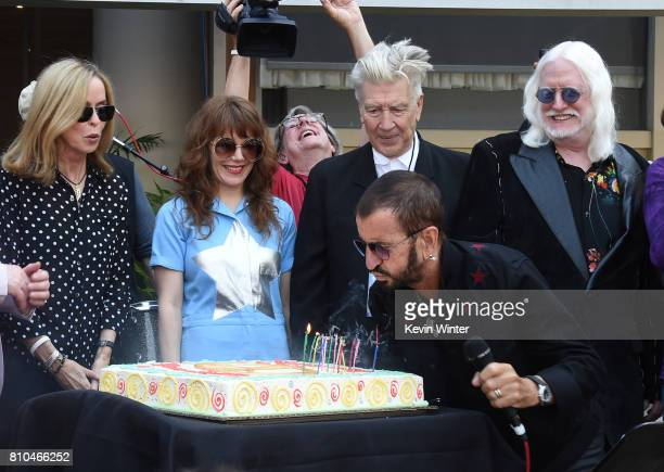 Barbara Bach singer Jenny Lewis director David Lynch musician Ringo Starr and musician Edgar Winter appear at the 'Peace Love' birthday celebration...
