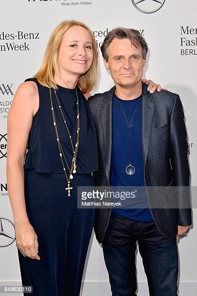 Barbara Bahro and Wolfgang Bahro attend the Guido Maria Kretschmer show during the MercedesBenz Fashion Week Berlin Spring/Summer 2017 at Erika Hess...