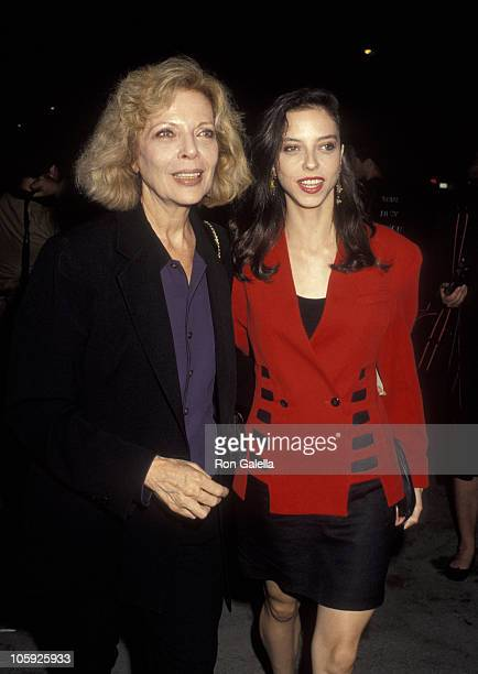 Barbara Bain and Juliet Landau during 'Bob Roberts' Beverly Hills Premiere at Writers Guild Doheny Plaza Theater in Beverly Hills California United...