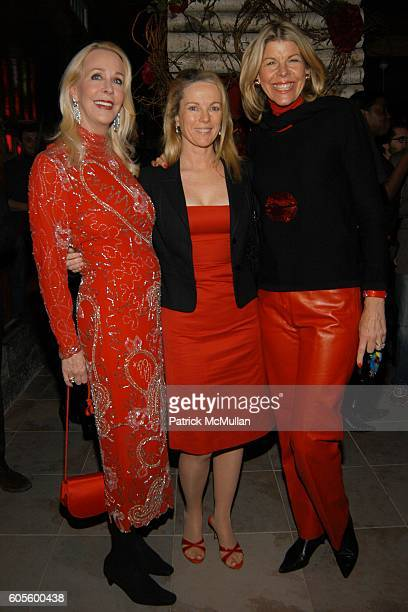 Barbara Bancroft Anne Hearst and Jamee Gregory attend A Valentines Day Dinner for KISS KISS A New Book of Photo's by Patrick McMullan at Pre Post...