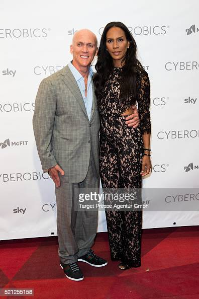 Barbara Becker and David Kirsch attend the 'World of Cyberobics' presentation on April 14 2016 in Berlin Germany