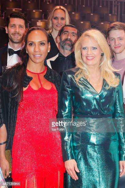Barbara Becker and german presenter Barbara Schoeneberger attend the Duftstars at Kraftwerk Mitte on May 11 2017 in Berlin Germany