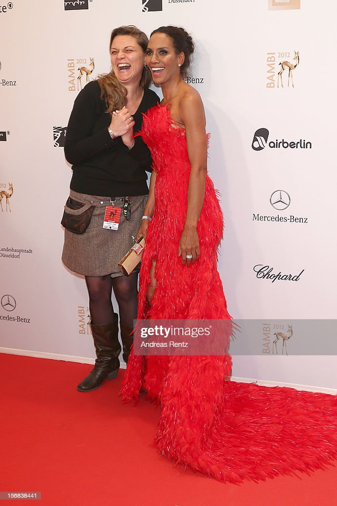 Barbara Becker and guest attend 'BAMBI Awards 2012' at the Stadthalle Duesseldorf on November 22, 2012 in Duesseldorf, Germany.