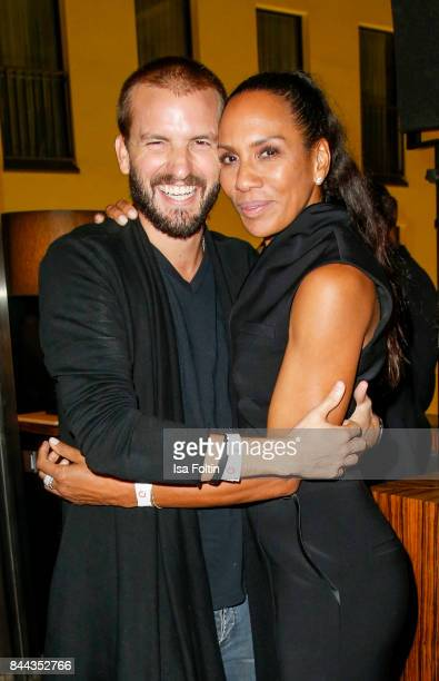 Barbara Becker and her boyfriend Juan Lopez Salaberry attend a QVC event during the Vogue Fashion's Night Out on September 8 2017 in duesseldorf...