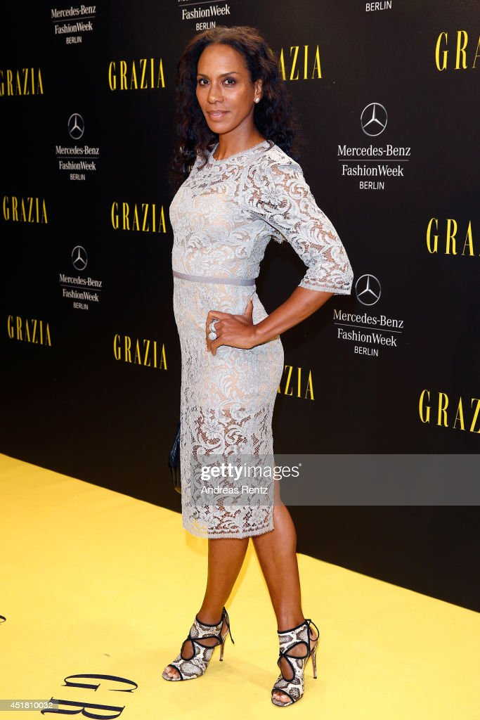 Barbara Becker arrives for the Opening Night by Grazia fashion show during the Mercedes-Benz Fashion Week Spring/Summer 2015 at Erika Hess Eisstadion on July 7, 2014 in Berlin, Germany.