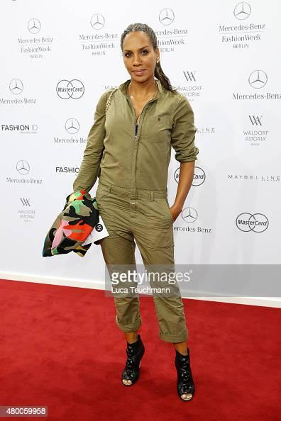 Barbara Becker attends the 'Designer for Tomorrow' by Peek Cloppenburg and Fashion ID show during the MercedesBenz Fashion Week Berlin Spring/Summer...