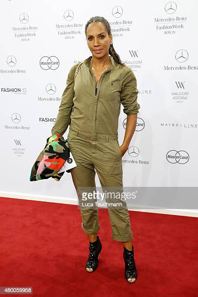 Barbara Becker attends the 'Designer for Tomorrow' by Peek Cloppenburg and Fashion ID show during the MercedesBenz Fashion Week Berlin Spring/Summer...