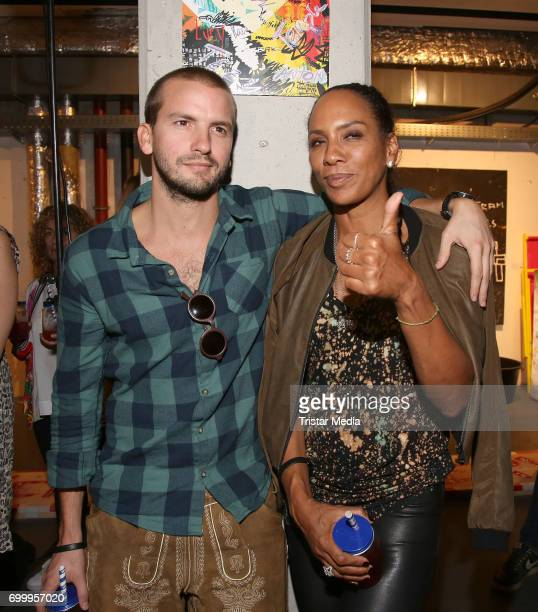 Barbara Becker with her partner Juan Lopez Salaberry during the Noah Becker 'Bake all Day' Vernissage on June 22 2017 in Hamburg Germany