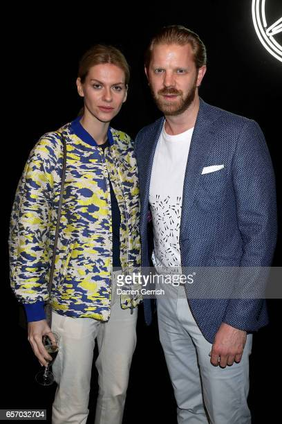 Barbara Bediova and Alistair Guy attend the MercedesBenz #MBCOLLECTIVE Chapter 1 launch party with M I A and Tommy Genesis on March 23 2017 in London...