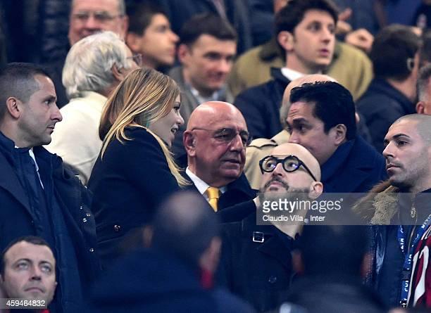 Barbara Berlusconi Adriano Galliani and President FC Internazionale Erick Thohir prior to the Serie A match between AC Milan and FC Internazionale...