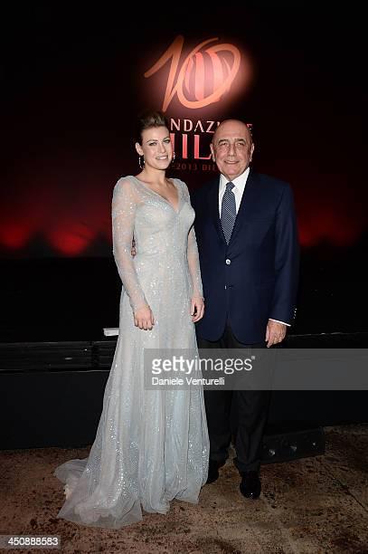 Barbara Berlusconi and Adriano Galliani attends the Fondazione Milan 10th Anniversary Gala on November 20 2013 in Milan Italy
