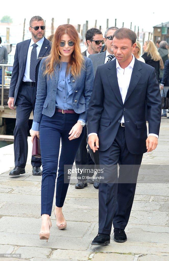 Barbara Berlusconi and Nicolo Cardi attend Prima Materia VIP Preview on May 29 2013 in Venice Italy