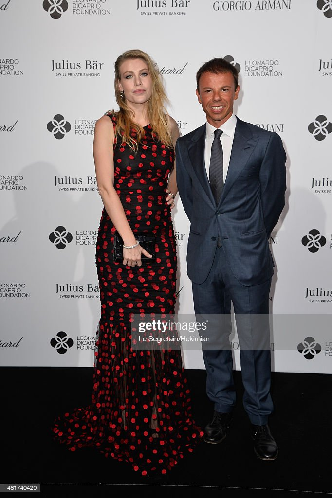 Barbara Berlusconi and Nicolo Cardi attend the Cocktail reception during The Leonardo DiCaprio Foundation 2nd Annual SaintTropez Gala at Domaine...