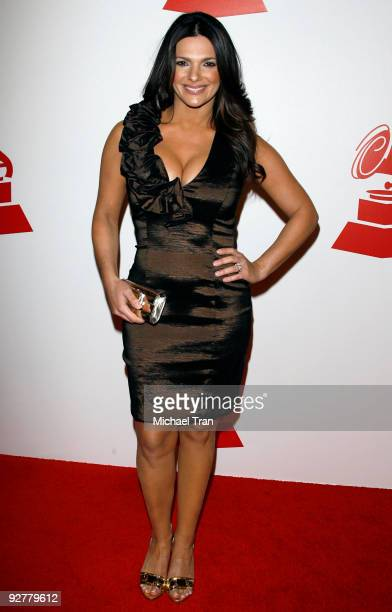 Barbara Bermuda arrives to the 2009 Latin Recording Academy Person of the Year honoring 'De Fiesta With Juan Gabriel' held at Mandalay Bay on...
