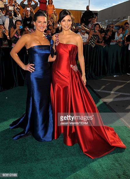 Barbara Bermudo and actress Giselle Blondet arrive at the 10th annual Latin GRAMMY Awards held at Mandalay Bay Events Center on November 5 2009 in...