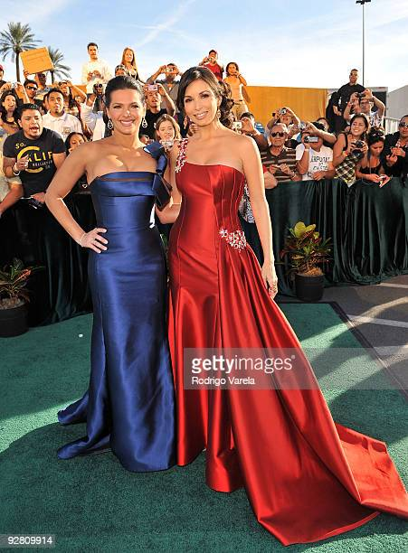 Barbara Bermudo and Actress Giselle Blondet attends the 10th Annual Latin GRAMMY Awards held at the Mandalay Bay Events Center on November 5 2009 in...