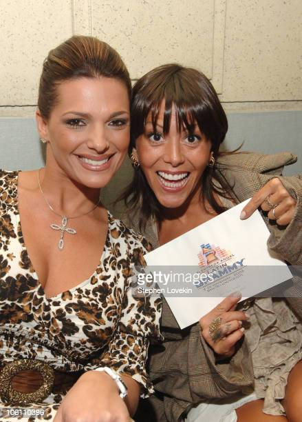 Barbara Bermudo and Alejandra Guzman during The 7th Annual Latin GRAMMY Awards Nominations Ceremony Green Room at The Theater at Madison Square...