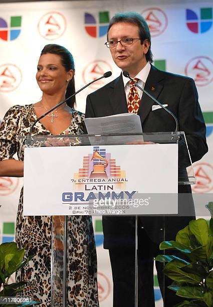Barbara Bermudo and Gabriel Abaroa President of The Latin Recording Academy