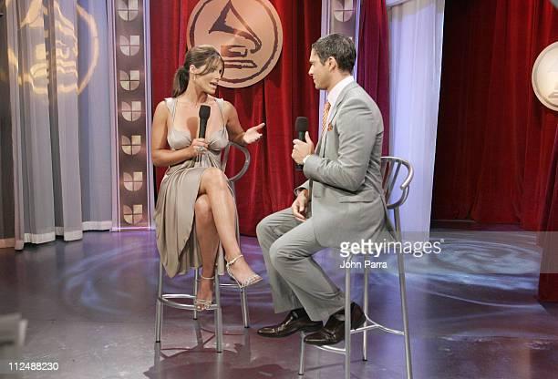 Barbara Bermudo and Rodner during The 7th Annual Latin GRAMMY Awards Celebra Nuestra Musica Backstage at Univision Studios in Miami Florida United...