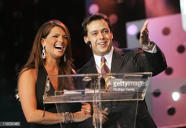 Barbara Bermudo and Rodrigo Vidal during 2004 Premios Inte Awards Show at Coconut Grove Convention Center in Coral Gables Florida United States