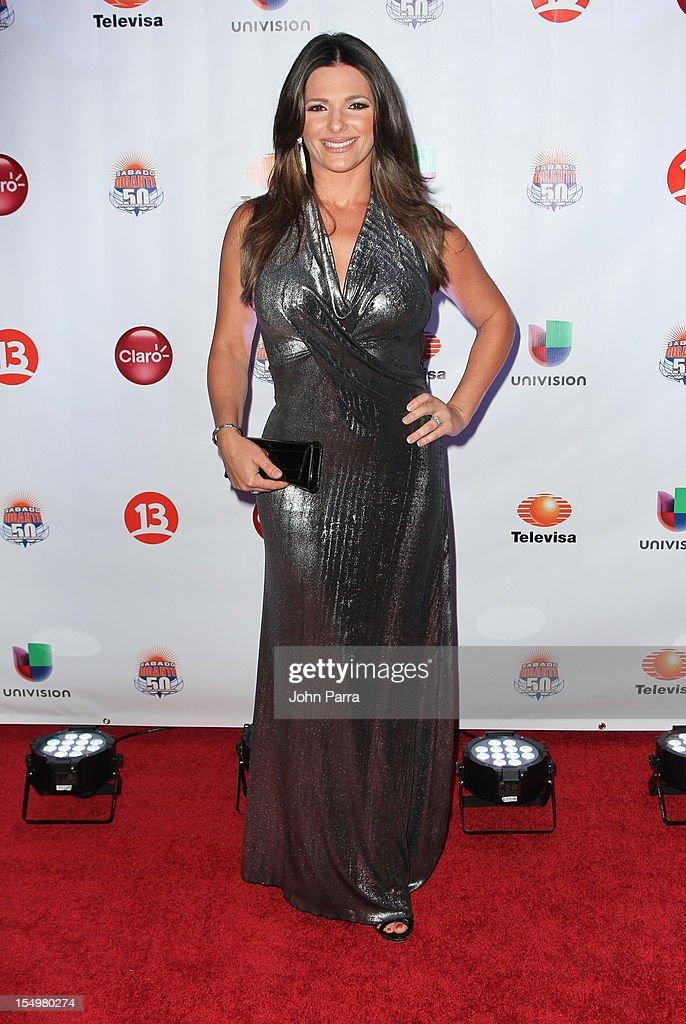 Barbara Bermudo arrives at Sabado Gigantes 50th Anniversary Gala Red Carpet at JW Marriott Marquis on October 28, 2012 in Miami, Florida.