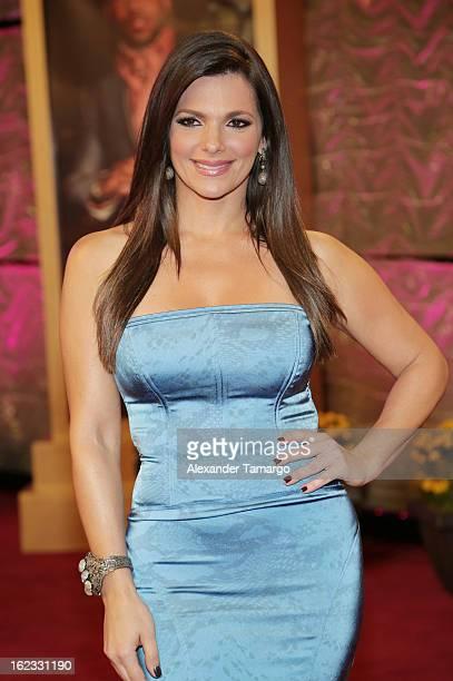 Barbara Bermudo arrives at the 25th anniversary of Univision's Premio lo Nuestro a la Musica Latina at the AmericanAirlines Arena on February 21 2013...