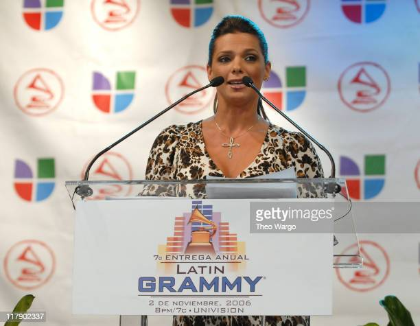 Barbara Bermudo during The 7th Annual Latin GRAMMY Awards Nominations Ceremony Press Conference at The Theater at Madison Square Garden in New York...