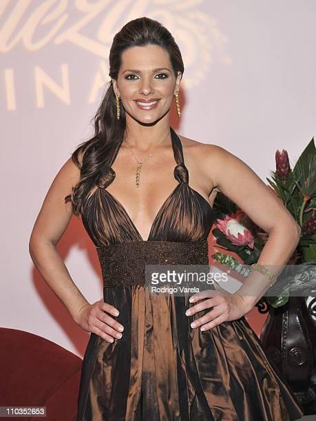Barbara Bermudo poses at the Grand Finale of Univision's Nuestra Bella Latina at the Greenwich Studios on May 16 2008 in Miami
