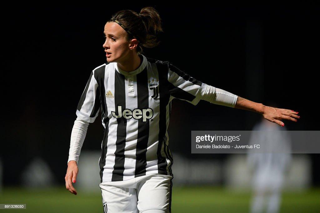 Barbara Bonansea during the Juventus Women v Fiorentina match at Juventus Center Vinovo on December 8, 2017 in Vinovo, Italy.