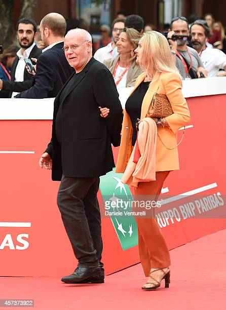 Barbara Bouchet and Marco Muller on The Red Carpet during the 9th Rome Film Festival on October 17 2014 in Rome Italy