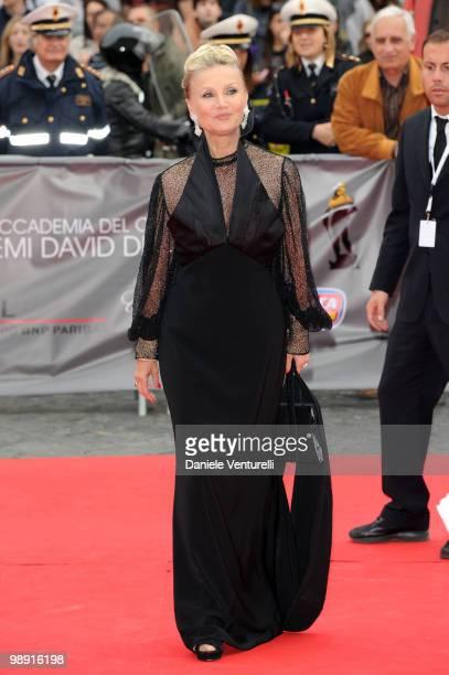 Barbara Bouchet attends the 'David Di Donatello' movie awards at the Auditorium Conciliazione on May 7 2010 in Rome Italy