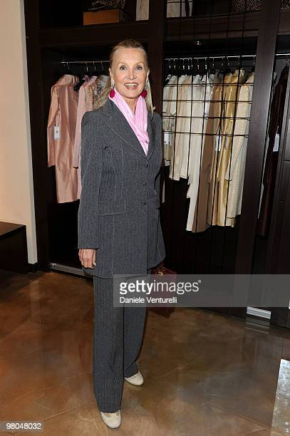 Barbara Bouchet attends the opening of the ''Ester Maria Rivaroli'' flagship store on March 25 2010 in Rome Italy