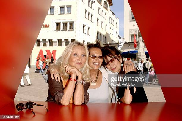 Barbara Bouchet Claudia Cardinale and Cassandra Gava attend GALERIE GMURZYNSKA Art Masters Opening Featuring Sculptures by ROBERT INDIANA at Galerie...