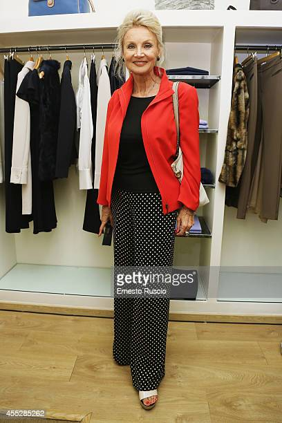 Barbara Bouchet sighting at Vogue Fashion Night Out of Rome at Via Del Babbuino on September 11 2014 in Rome Italy