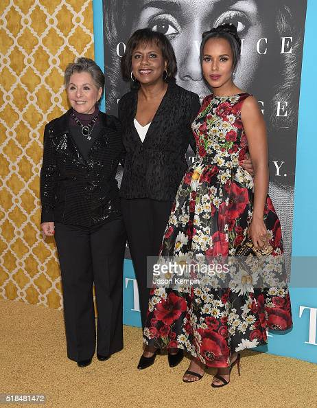 Barbara Boxer Anita Hill and Kerry Washington attend the premiere of HBO Films' 'Confirmation' at Paramount Theater on the Paramount Studios lot on...